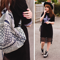 Wioletta M - Rosegal Dress, New Look Blackpack, Topshop Shoes - Jeans Backpack & Black Sporty Dress