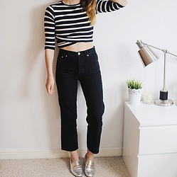 Georgie J - Pull&Bear Top, Asos Jeans, Asos Loafers - Authentic Straight Leg