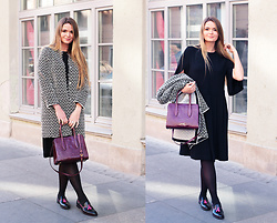 Natalia Romashko - Bimba&Lola Coat, & Other Stories Dress, Bimba&Lola Bag, Serfan Loafers - SIMPLE AUTUMN