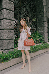 Tricia Gosingtian - Plains And Prints Dress, Zara Shoes, Coach Bag, Casio Watch - 092116