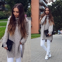 Aliz M - Zara Sweater, Zara White Jeans - Sweater Weather