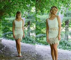 Vlada Kozachyshche - Top And Shorts, Aeropostale Sandals - Forest Walk