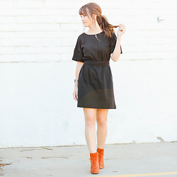 Brielle Patterson - Zara Dress, Urban Outfitters Ankle Boots - Black Tie