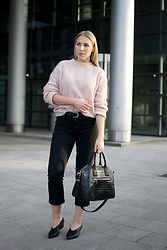 Sophia -  - Light Pink Fluffy Sweater