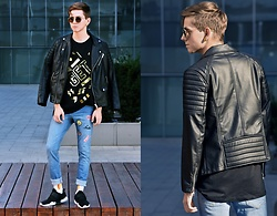 Tomasz Dąbrowski - Ray Ban Ray Ban, Zara T Shirt, Local Heroes Stickers, Pull & Bear Pants, Zara Shoes, H&M Socks - Get it