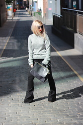 Andra Vaida - Cheap Mondat Silver Jumper, Asos Bell Shaped Jeans, New Look Suedette Bag - Wardrobe addition