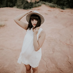 Cecilia H - Tobi White Dress, Forever 21 Gray Hat - Zion