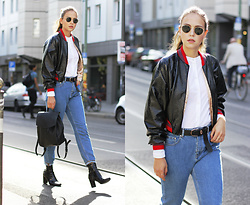 Dominique B. - Zara Bomber Jacket, Tamaris Backpack, River Island Boots - Bomber jacket - the special one