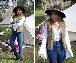 Eliza Tanudjaja - H&M Hat, Missguided Bell Sleeves Top - Where the Wild Things Are
