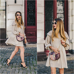 Julie P - Zaful Dress, Shein Bag, Zaful Sunglasses - Victorian style dress