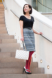 Lindsey Puls - Modcloth Dress, Modcloth Tights, Kate Spade Bag, Machi Footwear Heels - When Christmas Comes Early...
