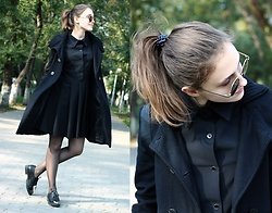 Natalia Ganzha - Mango Black Coat - Total black