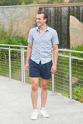 Wes Lambert - Chaps Dress Shorts, Forever 21 Men Dress Shirt, Adidas Sneakers - Bloom