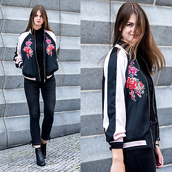 Jacky - Marks & Spencer Bomber Jacket, Marks & Spencer Jeans, Marks & Spencer Boots - Autumn Essentials 2016