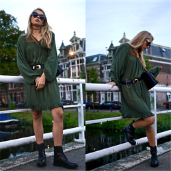 Frederique - fablefrique.com -  - Khaki bohemian dress