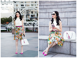 Lisa Valerie Morgan - Tibi Blouse, Anthropologie Skirt, Kate Spade Pumps - Chic In The City