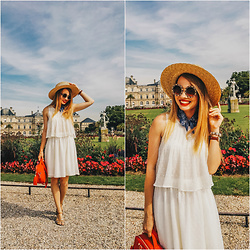 Julie P - Stradivarius Dress, Zerouv Sunglasses - Jardin du Luxembourg