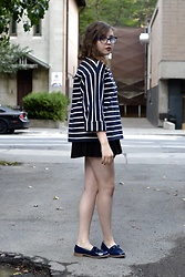 Dylan Leah - & Other Stories Stripe Sweater, New Look Loafers - Oversized Stripes