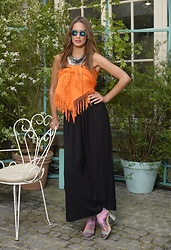 Amina Allam - Byaa Maxi Scarf, Byaa Tessa Slit Pants - Summer in October