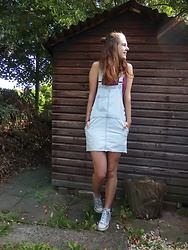 Charlotte Cocopop - Pull And Bear Dress, Vintage Shoes - Colour your life
