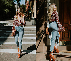 Payton Sartain - Band Of Gypsies Bodysuit, Topshop Jeans, Sole Child Pumps - Babe in Burgundy