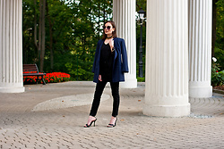 Anna Puzova - Woolsiegel Blazer, Vintage Top, H&M Jeans, Bakers Sandals, Zaful Shades, Vintage Detail - Bell sleeves and Eastern detail