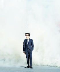 Lucas Hui - Strellson Paneled Suit, Topman Navy Knit Tie - Unstoppable