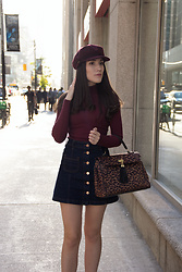 Carolina Pinglo -  - Burgandy cabby hat