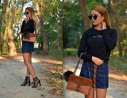 Martina Manolcheva - Mango Blouse, Bershka Skirt, Gucci Bag, Dior Sunglasses, Shoes - Casual Tuesday