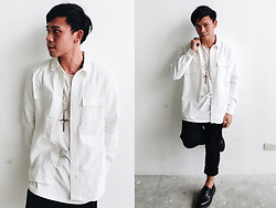 Ronwell Lim - H&M White Polo, Dr. Martens Leather Shoes - A Touch Of Metal