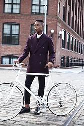 Igee Okafor - Sene Double Breasted Jacket, Cole Haan Wingtip Shoes, Apolis Trousers - The Double Breasted Coat