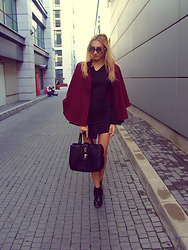 Khloe Lo -  - First day of LawSchool in a Burgundy Cape