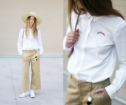 Gabrielle Lacasse - Scotch & Soda Embroided Shirt, Scotch & Soda Wide Pants, Converse Chuck Ii, Stetson Straw Hat - Heartbreaker