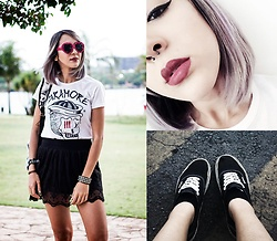 ☽ Lara Kneip ☾ - Vans, Pool Skirt, Aliexpress Heart Sunglass - Paramore ?