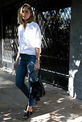 Jess A. - Atp Atelier Sandals, Samsoe & White Shirt - EFFORTLESSLY CASUAL