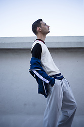 Cedric - Burberry Tracksuit Jacket, Fila Vintage Sleeveless Polo, Burberry Wool Polo, Asos Wide Leg Trousers - THE BURBERRY TRACKSUIT