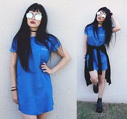 Mayara Pereira - Wear Ever Blue Dress, Gamiss Sunglass - BLUE