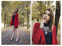 Marcela Wlodarczyk - Mohito Jacket, Ecarla Neckles, New Yorker Golf, New Yorker Skirt, Renee High Heels - Cool girl