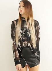 Marina Reyam - H&M Blouse, Tally Weijl Skort - BLACK IS A HAPPY COLOR