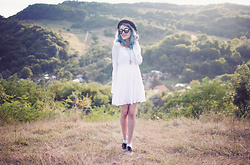 Evelyn Moon - Vans Skate Shoes, Dorothy Perkins White Dress, Vans Sunglasses - Set apart this dream