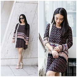 Kimberly Kong - Amiclubwear Printed Tunic, Ann Taylor Printed Sandals, Urban Originals Fringe Tote - Falling in Love with Trollbeads: OOTD + Giveaway