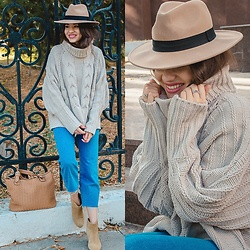 Diyora Beta - Asos Hat, Romwe Jumper - COMFORTABLE CASUAL OUTFIT