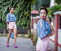 Nilu Yuleena Thapa - New Look Fuchsia Platforms, All About You From Deepika Padukone Cutout Top - Sleeked