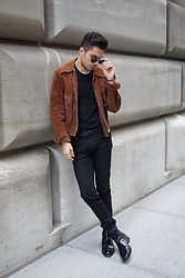 Phil Valles - Ray Ban Sunglasses, Allsaints Denim, Uniqlo Belt, James Perse T Shirt - Summer's End