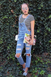 Mary Ryabich - Terranova Crop Top, Romwe Jumpsuit, Marmalato White Purse, H&M Striped Espadrilles - Romwe Jumpsuit