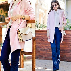 Diyora Beta - Asos Jacket - Flared jeans and pink jacket