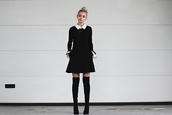 Krist Elle - Metisu.Com Black & White Collar Dress - Black & White Collar Dress
