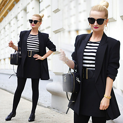 Daria Darenia - Rosegal Striped Blouse - Vintage Blazer