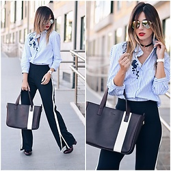 Ma Petite By Ana - Bag, Shein Shirt - Stripes