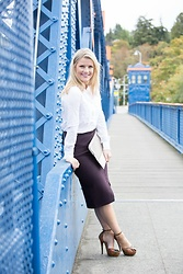 Olivia B. - Cupcakes And Cashmere Skirt, Chinese Laundry Heels - Shopping with Le Tote- on the blog now!